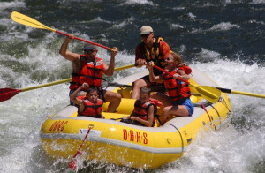 The North Fork of the Stanislaus River boasts some of the most technical Class IV whitewater rafting in California.