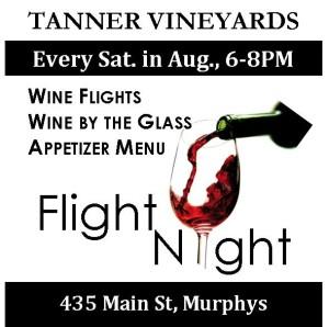 Flight Night @ Tanner Tasting Room   Murphys   California   United States