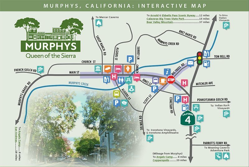 Murphys, CA interactive map